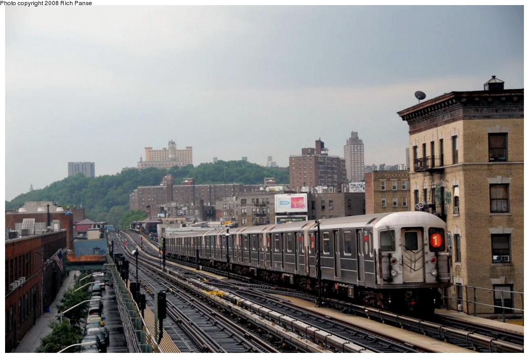 (209k, 1044x706)<br><b>Country:</b> United States<br><b>City:</b> New York<br><b>System:</b> New York City Transit<br><b>Line:</b> IRT West Side Line<br><b>Location:</b> 215th Street <br><b>Route:</b> 1<br><b>Car:</b> R-62A (Bombardier, 1984-1987)   <br><b>Photo by:</b> Richard Panse<br><b>Date:</b> 8/2/2008<br><b>Viewed (this week/total):</b> 5 / 1844
