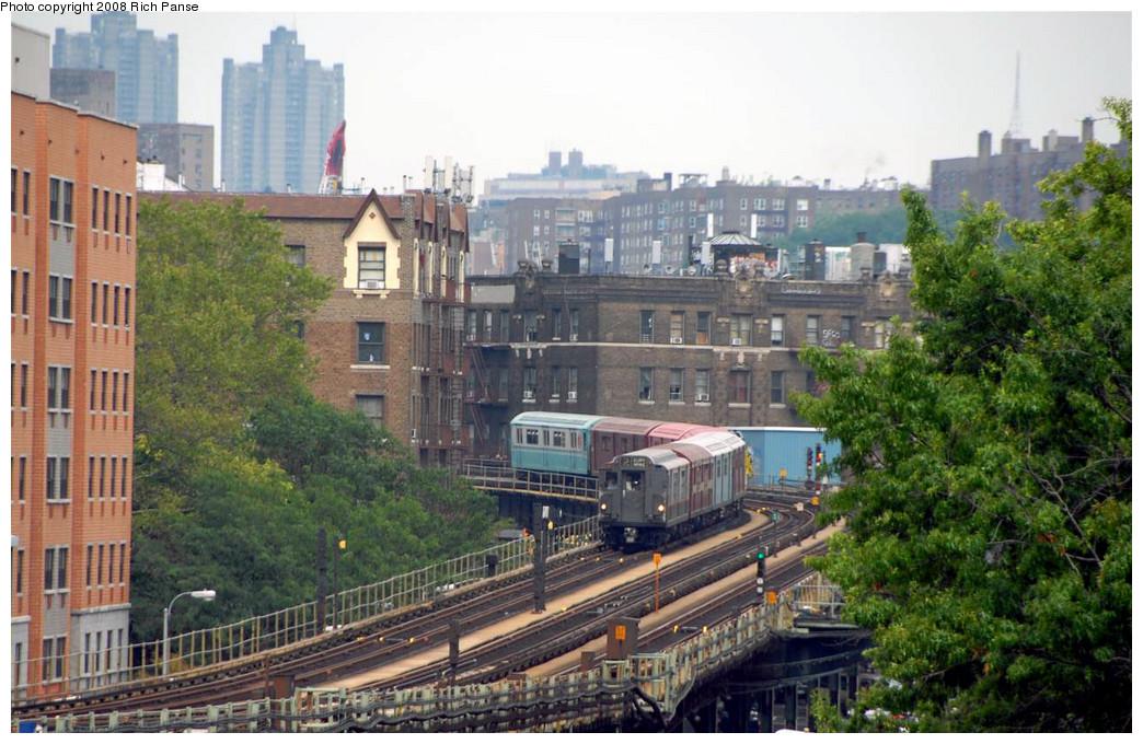 (267k, 1044x680)<br><b>Country:</b> United States<br><b>City:</b> New York<br><b>System:</b> New York City Transit<br><b>Line:</b> IRT West Side Line<br><b>Location:</b> Dyckman Street <br><b>Route:</b> Transit Museum Nostalgia Train<br><b>Car:</b> R-12 (American Car & Foundry, 1948) 5760 <br><b>Photo by:</b> Richard Panse<br><b>Date:</b> 8/2/2008<br><b>Viewed (this week/total):</b> 0 / 1782