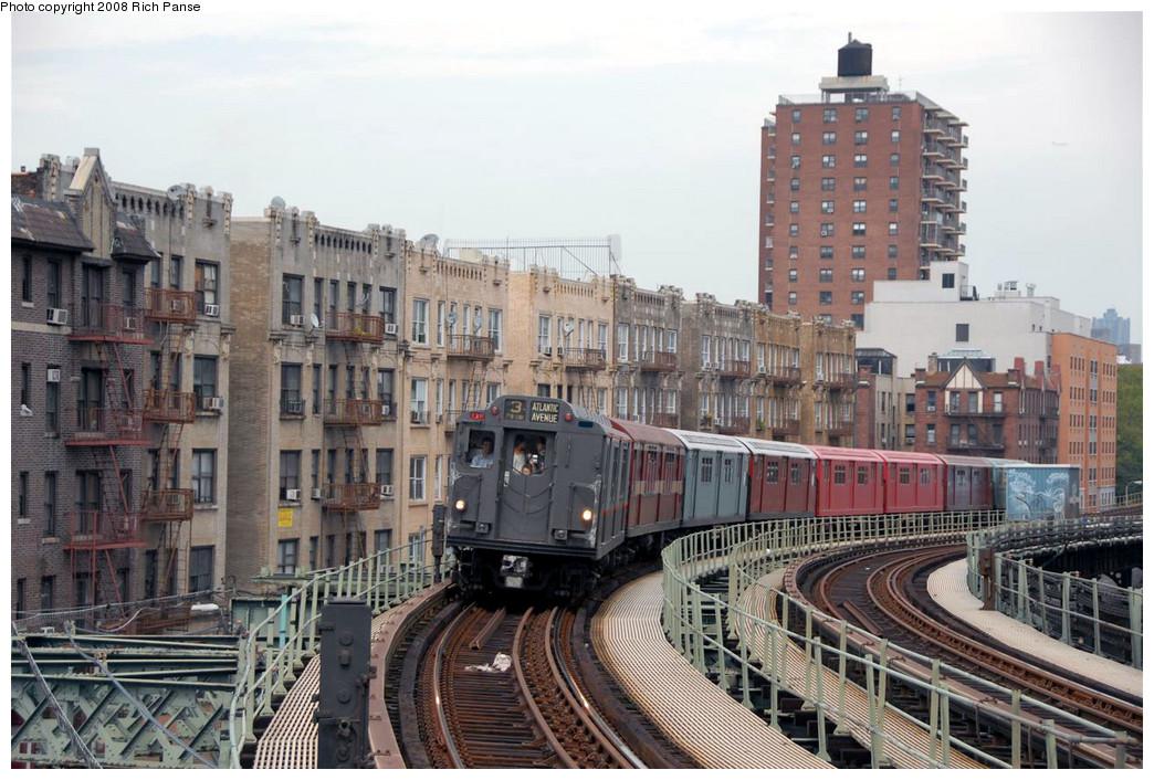 (261k, 1044x706)<br><b>Country:</b> United States<br><b>City:</b> New York<br><b>System:</b> New York City Transit<br><b>Line:</b> IRT West Side Line<br><b>Location:</b> Dyckman Street <br><b>Route:</b> Transit Museum Nostalgia Train<br><b>Car:</b> R-12 (American Car & Foundry, 1948) 5760 <br><b>Photo by:</b> Richard Panse<br><b>Date:</b> 8/2/2008<br><b>Viewed (this week/total):</b> 0 / 1466