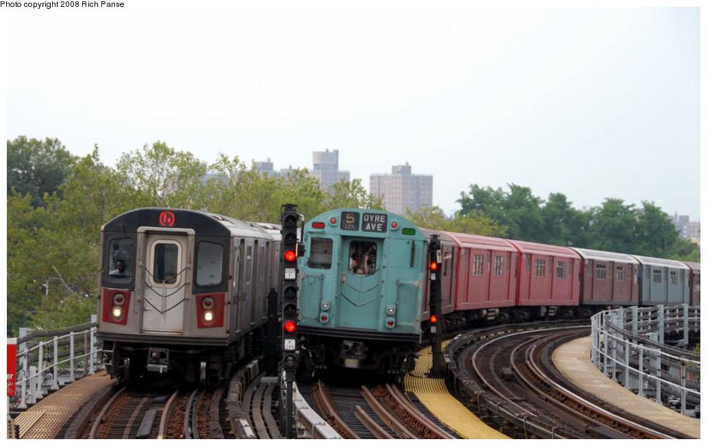 (178k, 1044x652)<br><b>Country:</b> United States<br><b>City:</b> New York<br><b>System:</b> New York City Transit<br><b>Line:</b> IRT White Plains Road Line<br><b>Location:</b> Jackson Avenue <br><b>Route:</b> Transit Museum Nostalgia Train<br><b>Car:</b> R-33 World's Fair (St. Louis, 1963-64) 9306 <br><b>Photo by:</b> Richard Panse<br><b>Date:</b> 8/2/2008<br><b>Viewed (this week/total):</b> 2 / 1649