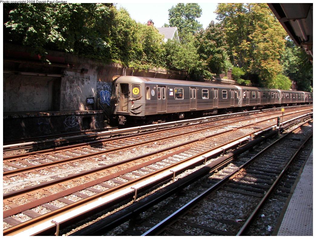 (424k, 1044x788)<br><b>Country:</b> United States<br><b>City:</b> New York<br><b>System:</b> New York City Transit<br><b>Line:</b> BMT Brighton Line<br><b>Location:</b> Beverley Road <br><b>Route:</b> Q<br><b>Car:</b> R-68A (Kawasaki, 1988-1989)  5102 <br><b>Photo by:</b> David-Paul Gerber<br><b>Date:</b> 8/18/2008<br><b>Viewed (this week/total):</b> 4 / 2224