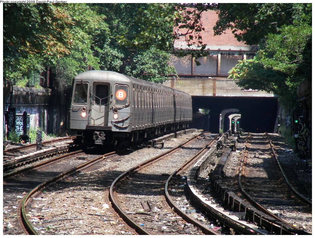 (428k, 1044x788)<br><b>Country:</b> United States<br><b>City:</b> New York<br><b>System:</b> New York City Transit<br><b>Line:</b> BMT Brighton Line<br><b>Location:</b> Beverley Road <br><b>Route:</b> B<br><b>Car:</b> R-68/R-68A Series (Number Unknown)  <br><b>Photo by:</b> David-Paul Gerber<br><b>Date:</b> 8/18/2008<br><b>Viewed (this week/total):</b> 3 / 1714