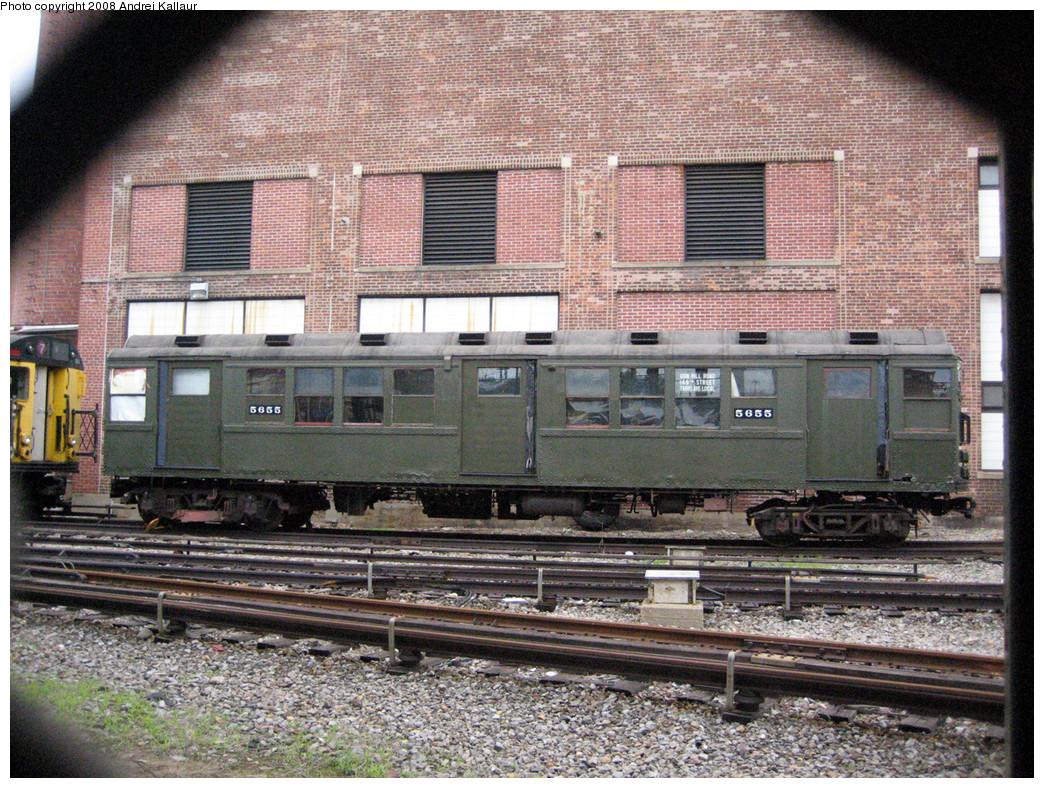 (435k, 1044x788)<br><b>Country:</b> United States<br><b>City:</b> New York<br><b>System:</b> New York City Transit<br><b>Location:</b> Coney Island Yard<br><b>Car:</b> Low-V Worlds Fair 5655 <br><b>Photo by:</b> Andrei Kallaur<br><b>Date:</b> 7/4/2007<br><b>Viewed (this week/total):</b> 0 / 1541