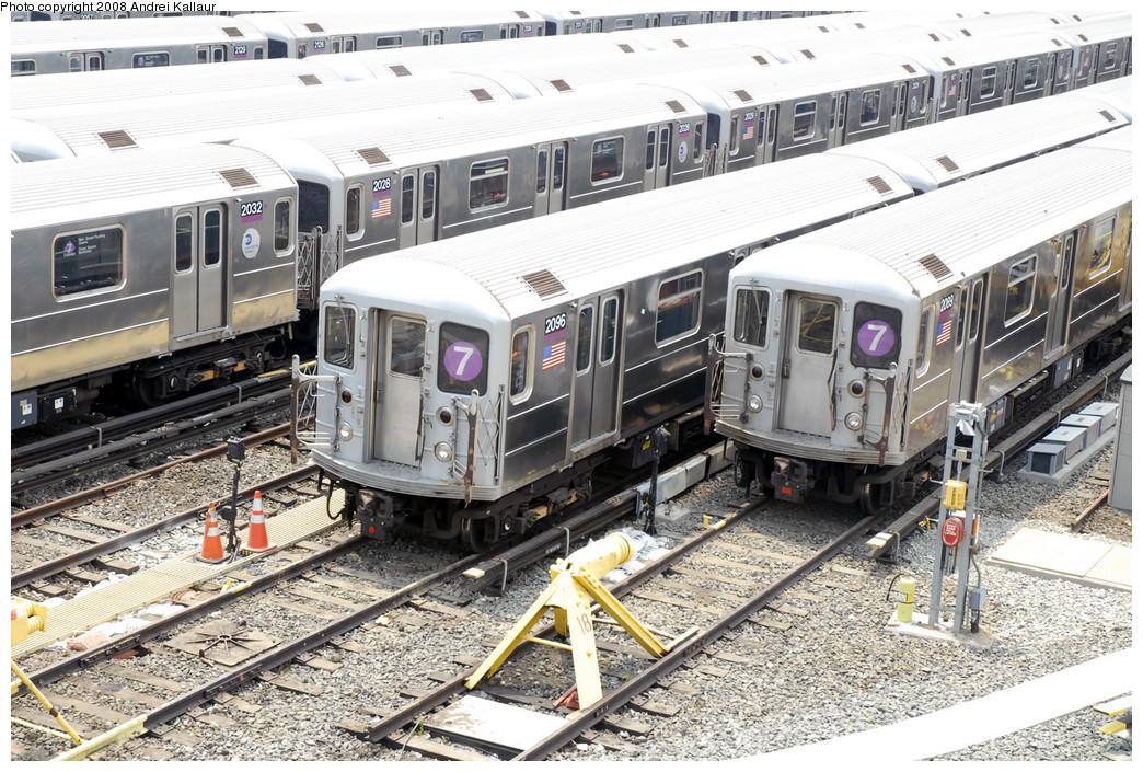 (335k, 1044x705)<br><b>Country:</b> United States<br><b>City:</b> New York<br><b>System:</b> New York City Transit<br><b>Location:</b> Corona Yard<br><b>Car:</b> R-62A (Bombardier, 1984-1987)  2032/2028/2096 <br><b>Photo by:</b> Andrei Kallaur<br><b>Date:</b> 10/27/2005<br><b>Viewed (this week/total):</b> 3 / 1226