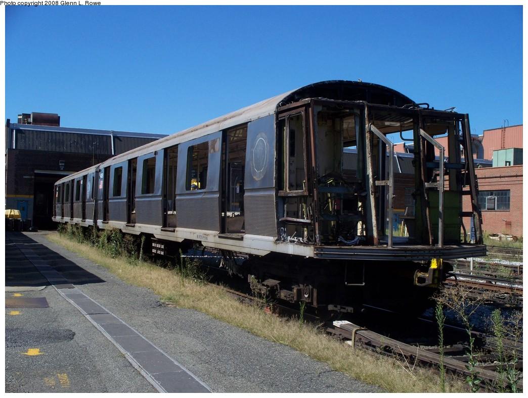 (246k, 1044x788)<br><b>Country:</b> United States<br><b>City:</b> New York<br><b>System:</b> New York City Transit<br><b>Location:</b> 207th Street Yard<br><b>Car:</b> R-40 (St. Louis, 1968)  4429 <br><b>Photo by:</b> Glenn L. Rowe<br><b>Date:</b> 8/20/2008<br><b>Notes:</b> Scrap<br><b>Viewed (this week/total):</b> 1 / 1360