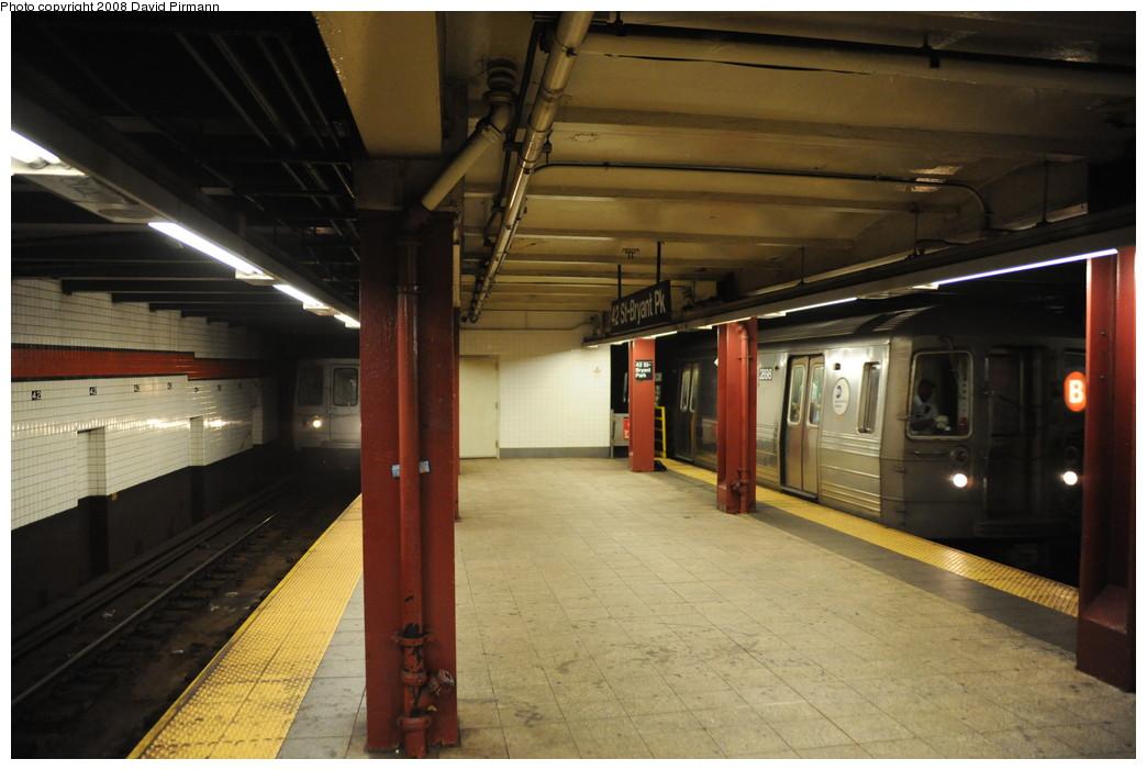 (230k, 1044x701)<br><b>Country:</b> United States<br><b>City:</b> New York<br><b>System:</b> New York City Transit<br><b>Line:</b> IND 6th Avenue Line<br><b>Location:</b> 42nd Street/Bryant Park <br><b>Route:</b> B<br><b>Car:</b> R-68 (Westinghouse-Amrail, 1986-1988)  2898 <br><b>Photo by:</b> David Pirmann<br><b>Date:</b> 8/21/2008<br><b>Viewed (this week/total):</b> 0 / 2287