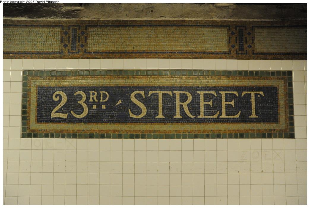 (267k, 1044x701)<br><b>Country:</b> United States<br><b>City:</b> New York<br><b>System:</b> New York City Transit<br><b>Line:</b> BMT Broadway Line<br><b>Location:</b> 23rd Street <br><b>Photo by:</b> David Pirmann<br><b>Date:</b> 8/21/2008<br><b>Viewed (this week/total):</b> 0 / 1198
