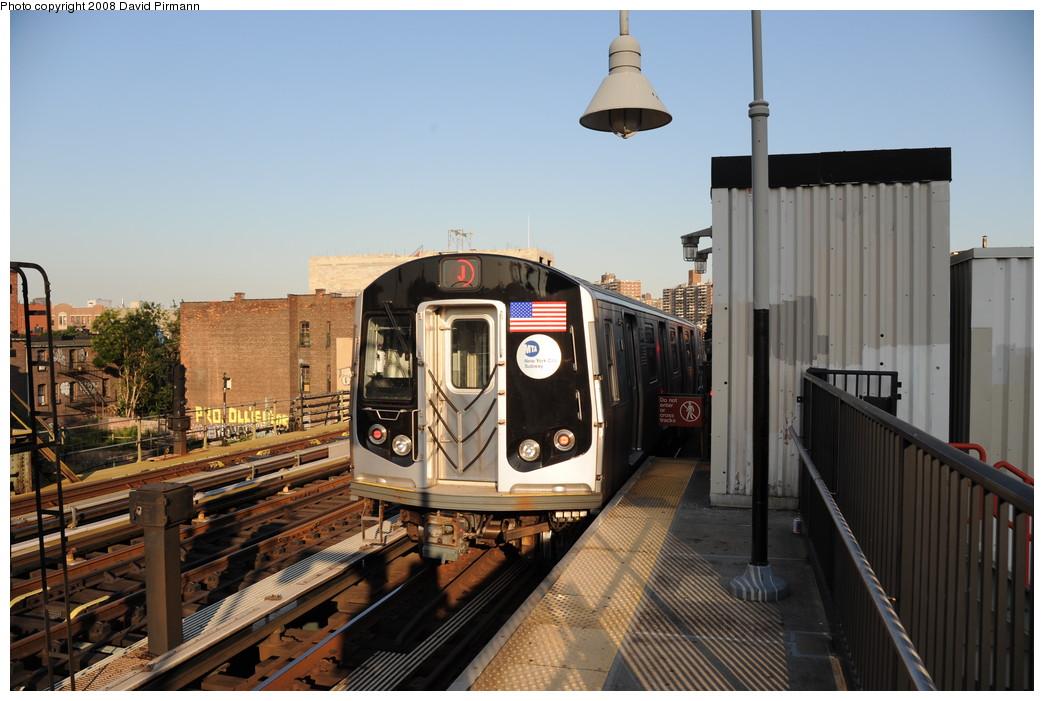 (249k, 1044x701)<br><b>Country:</b> United States<br><b>City:</b> New York<br><b>System:</b> New York City Transit<br><b>Line:</b> BMT Nassau Street/Jamaica Line<br><b>Location:</b> Marcy Avenue <br><b>Route:</b> J<br><b>Car:</b> R-160A-1 (Alstom, 2005-2008, 4 car sets)  8449 <br><b>Photo by:</b> David Pirmann<br><b>Date:</b> 8/21/2008<br><b>Viewed (this week/total):</b> 0 / 1377
