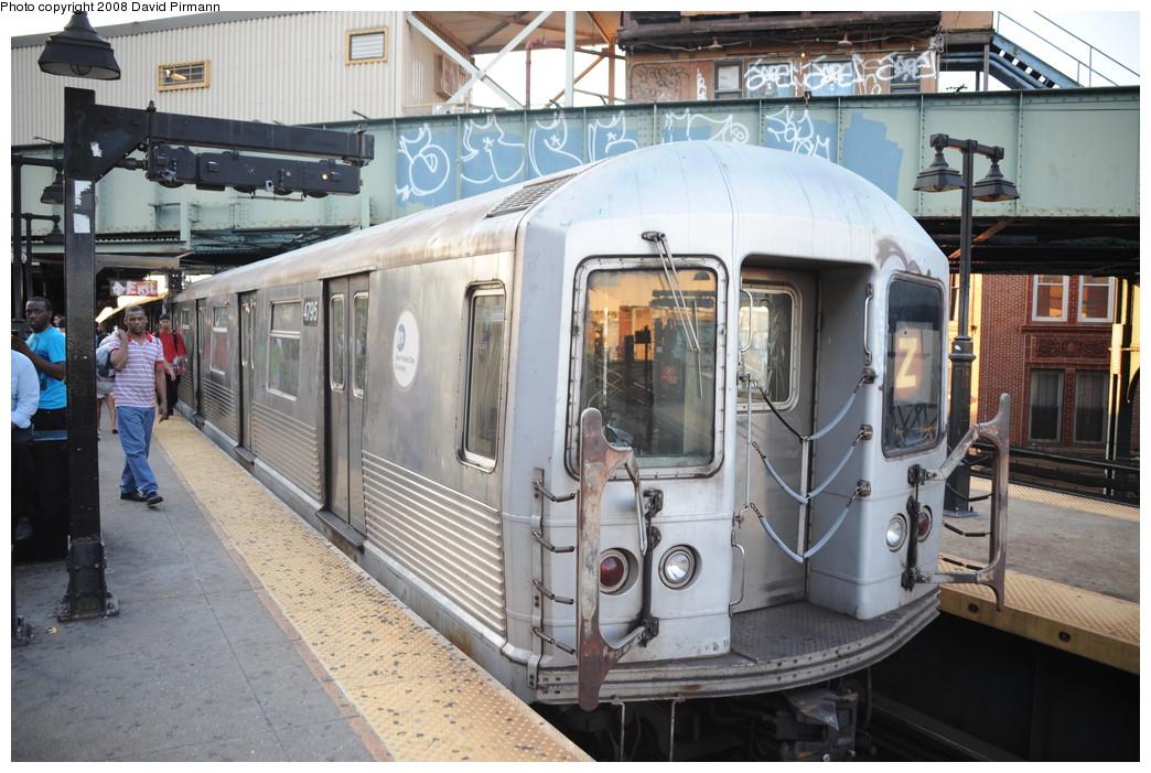(284k, 1044x701)<br><b>Country:</b> United States<br><b>City:</b> New York<br><b>System:</b> New York City Transit<br><b>Line:</b> BMT Nassau Street/Jamaica Line<br><b>Location:</b> Myrtle Avenue <br><b>Route:</b> Z<br><b>Car:</b> R-42 (St. Louis, 1969-1970)  4795 <br><b>Photo by:</b> David Pirmann<br><b>Date:</b> 8/21/2008<br><b>Viewed (this week/total):</b> 2 / 1632