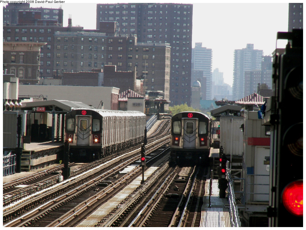 (311k, 1044x788)<br><b>Country:</b> United States<br><b>City:</b> New York<br><b>System:</b> New York City Transit<br><b>Line:</b> IRT White Plains Road Line<br><b>Location:</b> Intervale Avenue <br><b>Route:</b> 2<br><b>Car:</b> R-142 or R-142A (Number Unknown)  <br><b>Photo by:</b> David-Paul Gerber<br><b>Date:</b> 8/19/2008<br><b>Notes:</b> View from Simpson St.<br><b>Viewed (this week/total):</b> 0 / 2549