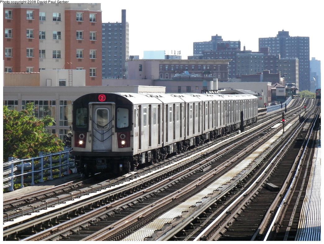 (345k, 1044x788)<br><b>Country:</b> United States<br><b>City:</b> New York<br><b>System:</b> New York City Transit<br><b>Line:</b> IRT White Plains Road Line<br><b>Location:</b> Simpson Street <br><b>Route:</b> 2<br><b>Car:</b> R-142 or R-142A (Number Unknown)  <br><b>Photo by:</b> David-Paul Gerber<br><b>Date:</b> 8/19/2008<br><b>Viewed (this week/total):</b> 0 / 1665