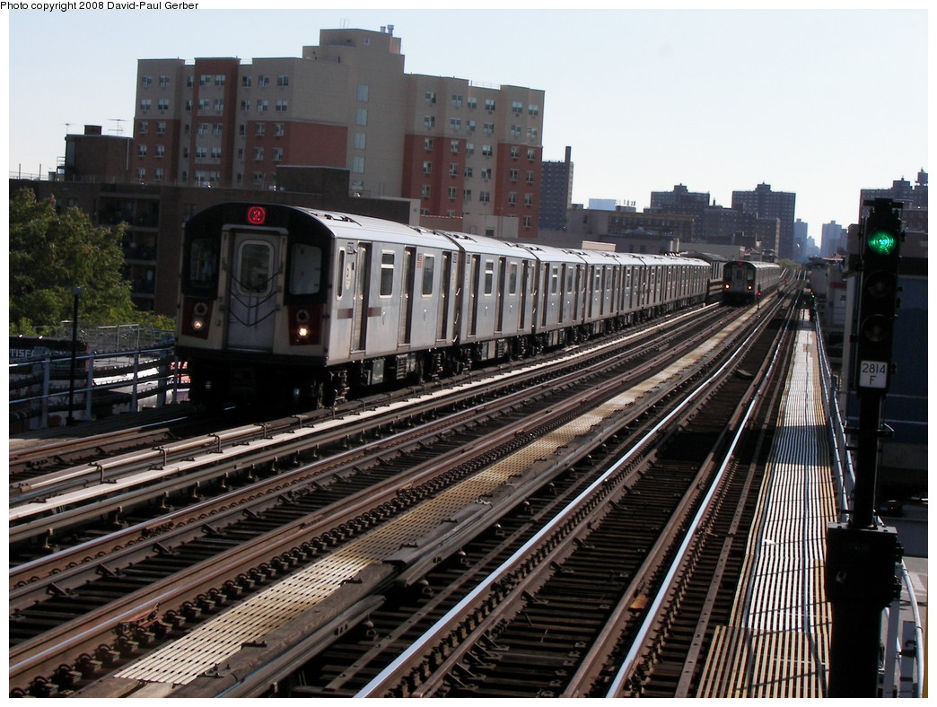 (305k, 1044x788)<br><b>Country:</b> United States<br><b>City:</b> New York<br><b>System:</b> New York City Transit<br><b>Line:</b> IRT White Plains Road Line<br><b>Location:</b> Simpson Street <br><b>Route:</b> 2<br><b>Car:</b> R-142 or R-142A (Number Unknown)  <br><b>Photo by:</b> David-Paul Gerber<br><b>Date:</b> 8/19/2008<br><b>Viewed (this week/total):</b> 0 / 1557