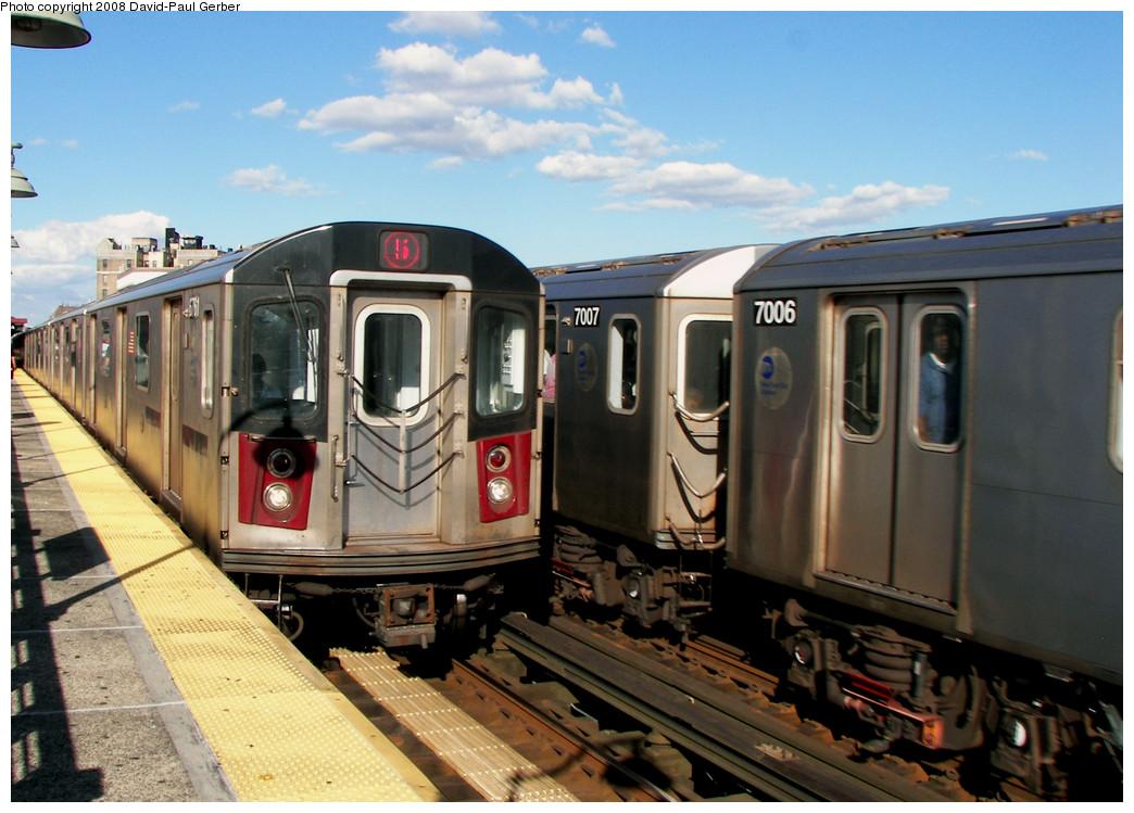 (259k, 1044x749)<br><b>Country:</b> United States<br><b>City:</b> New York<br><b>System:</b> New York City Transit<br><b>Line:</b> IRT White Plains Road Line<br><b>Location:</b> Simpson Street <br><b>Route:</b> 5<br><b>Car:</b> R-142 (Primary Order, Bombardier, 1999-2002)  6761 <br><b>Photo by:</b> David-Paul Gerber<br><b>Date:</b> 8/19/2008<br><b>Viewed (this week/total):</b> 8 / 2743
