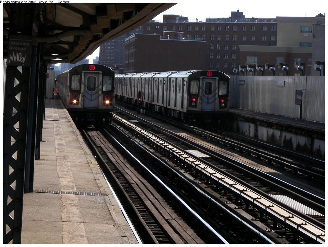 (297k, 1044x788)<br><b>Country:</b> United States<br><b>City:</b> New York<br><b>System:</b> New York City Transit<br><b>Line:</b> IRT White Plains Road Line<br><b>Location:</b> Intervale Avenue <br><b>Route:</b> 2<br><b>Car:</b> R-142 or R-142A (Number Unknown)  <br><b>Photo by:</b> David-Paul Gerber<br><b>Date:</b> 8/19/2008<br><b>Viewed (this week/total):</b> 0 / 1932