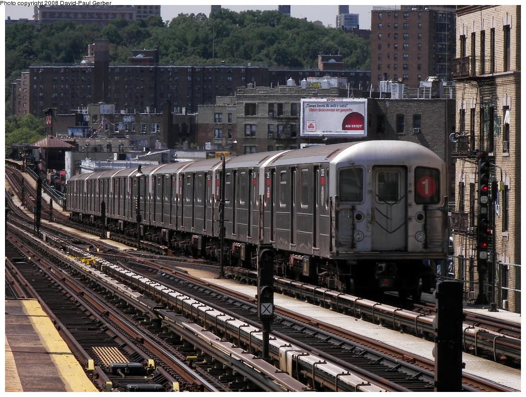 (361k, 1044x788)<br><b>Country:</b> United States<br><b>City:</b> New York<br><b>System:</b> New York City Transit<br><b>Line:</b> IRT West Side Line<br><b>Location:</b> 215th Street <br><b>Route:</b> 1<br><b>Car:</b> R-62A (Bombardier, 1984-1987)  2395 <br><b>Photo by:</b> David-Paul Gerber<br><b>Date:</b> 8/21/2008<br><b>Viewed (this week/total):</b> 1 / 1423
