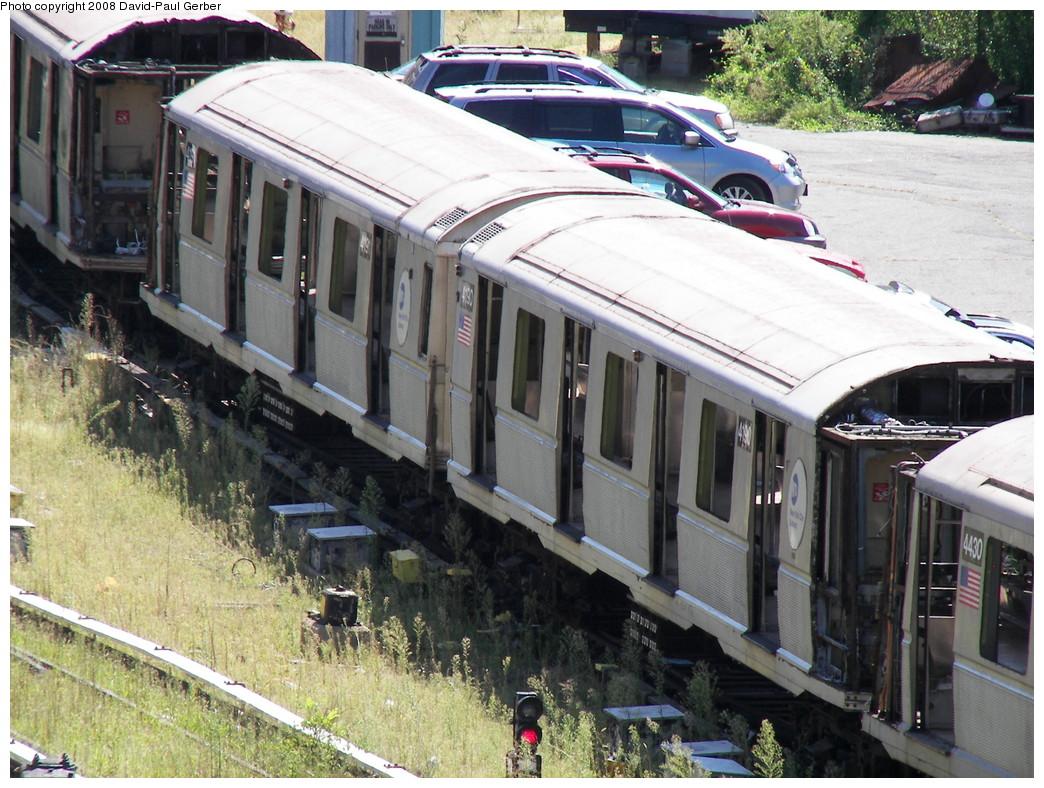 (323k, 1044x788)<br><b>Country:</b> United States<br><b>City:</b> New York<br><b>System:</b> New York City Transit<br><b>Location:</b> 207th Street Yard<br><b>Car:</b> R-40 (St. Louis, 1968)  4190 <br><b>Photo by:</b> David-Paul Gerber<br><b>Date:</b> 8/21/2008<br><b>Notes:</b> Scrap<br><b>Viewed (this week/total):</b> 3 / 1082