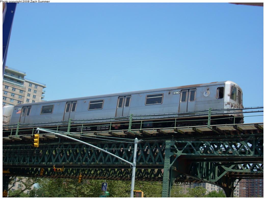 (240k, 1044x788)<br><b>Country:</b> United States<br><b>City:</b> New York<br><b>System:</b> New York City Transit<br><b>Line:</b> BMT Culver Line<br><b>Location:</b> Neptune Avenue <br><b>Route:</b> F<br><b>Car:</b> R-46 (Pullman-Standard, 1974-75) 5780 <br><b>Photo by:</b> Zach Summer<br><b>Date:</b> 7/15/2008<br><b>Viewed (this week/total):</b> 1 / 1421