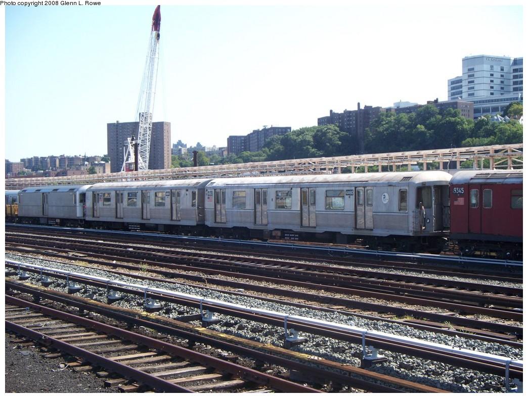 (261k, 1044x788)<br><b>Country:</b> United States<br><b>City:</b> New York<br><b>System:</b> New York City Transit<br><b>Location:</b> 207th Street Yard<br><b>Route:</b> Work Service<br><b>Car:</b> R-40M (St. Louis, 1969)  4460 <br><b>Photo by:</b> Glenn L. Rowe<br><b>Date:</b> 8/21/2008<br><b>Notes:</b> With mismate R42 4665 on garbage train duty<br><b>Viewed (this week/total):</b> 1 / 1333