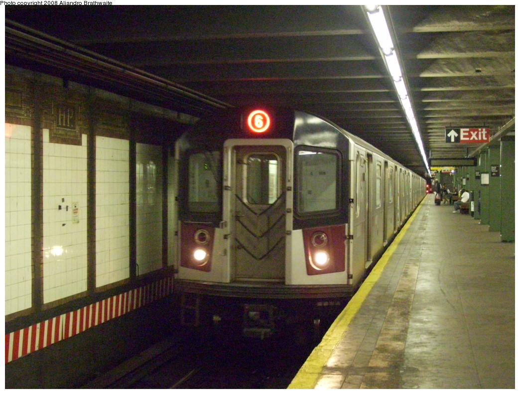 (259k, 1044x791)<br><b>Country:</b> United States<br><b>City:</b> New York<br><b>System:</b> New York City Transit<br><b>Line:</b> IRT Pelham Line<br><b>Location:</b> Hunts Point Avenue <br><b>Route:</b> 6<br><b>Car:</b> R-142A (Primary Order, Kawasaki, 1999-2002)  7261 <br><b>Photo by:</b> Aliandro Brathwaite<br><b>Date:</b> 8/20/2008<br><b>Viewed (this week/total):</b> 1 / 2480