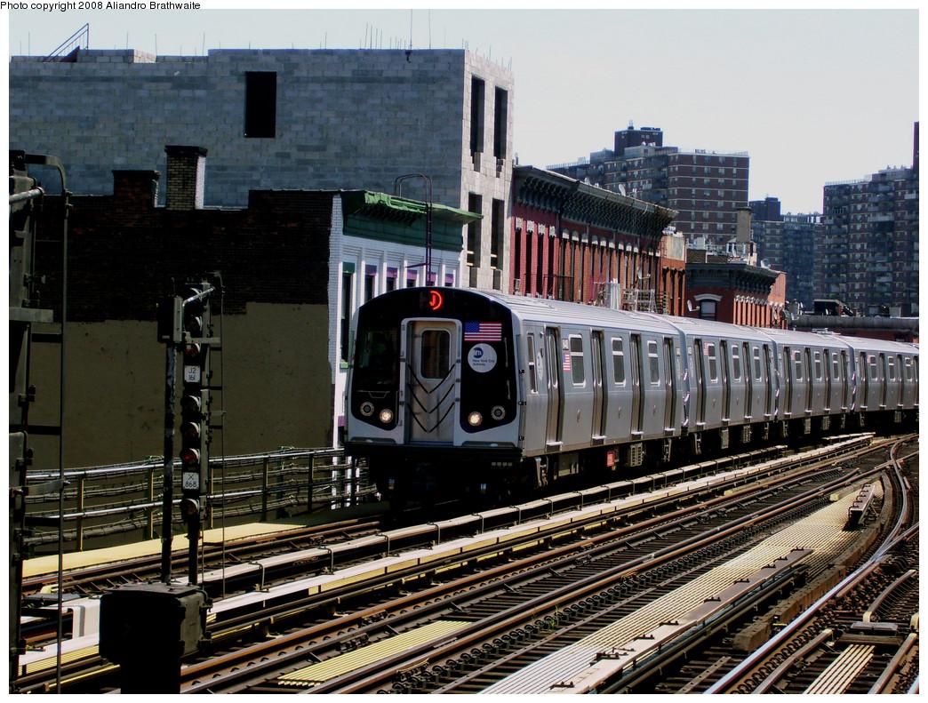 (354k, 1044x791)<br><b>Country:</b> United States<br><b>City:</b> New York<br><b>System:</b> New York City Transit<br><b>Line:</b> BMT Nassau Street/Jamaica Line<br><b>Location:</b> Marcy Avenue <br><b>Route:</b> J<br><b>Car:</b> R-160A-1 (Alstom, 2005-2008, 4 car sets)  8440 <br><b>Photo by:</b> Aliandro Brathwaite<br><b>Date:</b> 8/20/2008<br><b>Viewed (this week/total):</b> 1 / 1699