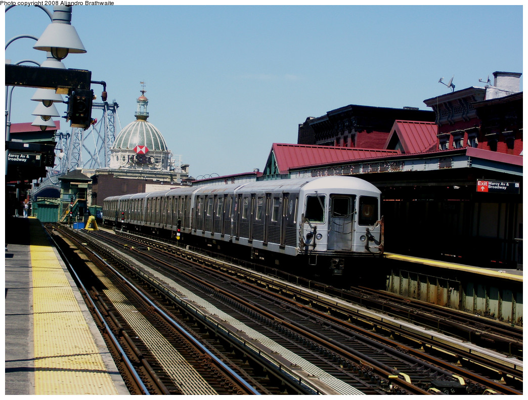 (318k, 1044x791)<br><b>Country:</b> United States<br><b>City:</b> New York<br><b>System:</b> New York City Transit<br><b>Line:</b> BMT Nassau Street/Jamaica Line<br><b>Location:</b> Marcy Avenue <br><b>Route:</b> J<br><b>Car:</b> R-42 (St. Louis, 1969-1970)  4774 <br><b>Photo by:</b> Aliandro Brathwaite<br><b>Date:</b> 8/20/2008<br><b>Viewed (this week/total):</b> 1 / 1420
