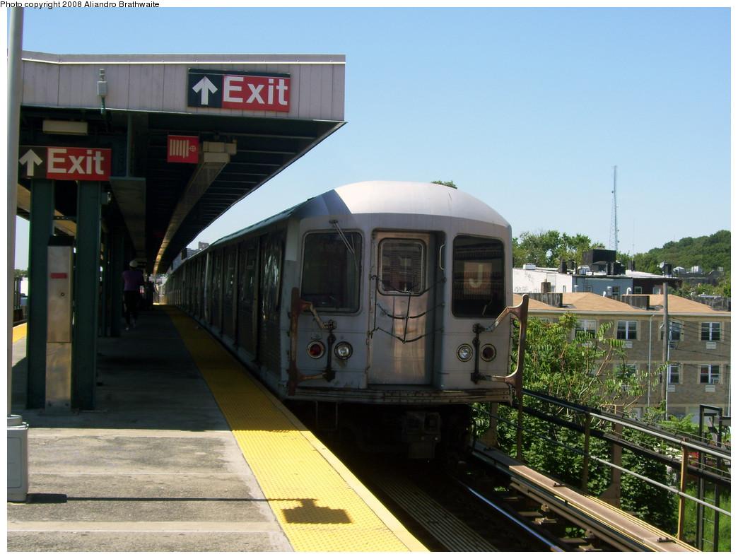 (257k, 1044x791)<br><b>Country:</b> United States<br><b>City:</b> New York<br><b>System:</b> New York City Transit<br><b>Line:</b> BMT Nassau Street-Jamaica Line<br><b>Location:</b> Van Siclen Avenue<br><b>Route:</b> J<br><b>Car:</b> R-42 (St. Louis, 1969-1970) 4839 <br><b>Photo by:</b> Aliandro Brathwaite<br><b>Date:</b> 8/20/2008<br><b>Viewed (this week/total):</b> 0 / 2175