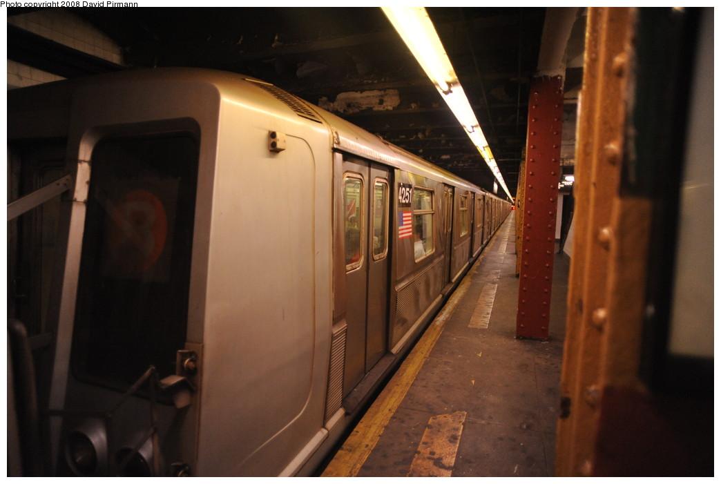 (203k, 1044x701)<br><b>Country:</b> United States<br><b>City:</b> New York<br><b>System:</b> New York City Transit<br><b>Line:</b> IND Concourse Line<br><b>Location:</b> 145th Street <br><b>Route:</b> B<br><b>Car:</b> R-40 (St. Louis, 1968)  4251 <br><b>Photo by:</b> David Pirmann<br><b>Date:</b> 8/27/2008<br><b>Viewed (this week/total):</b> 0 / 937