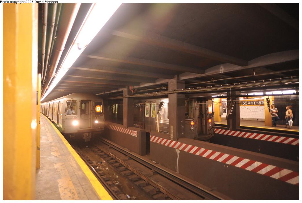 (231k, 1044x701)<br><b>Country:</b> United States<br><b>City:</b> New York<br><b>System:</b> New York City Transit<br><b>Line:</b> IND Concourse Line<br><b>Location:</b> 155th Street/8th Avenue <br><b>Photo by:</b> David Pirmann<br><b>Date:</b> 8/27/2008<br><b>Viewed (this week/total):</b> 2 / 2886