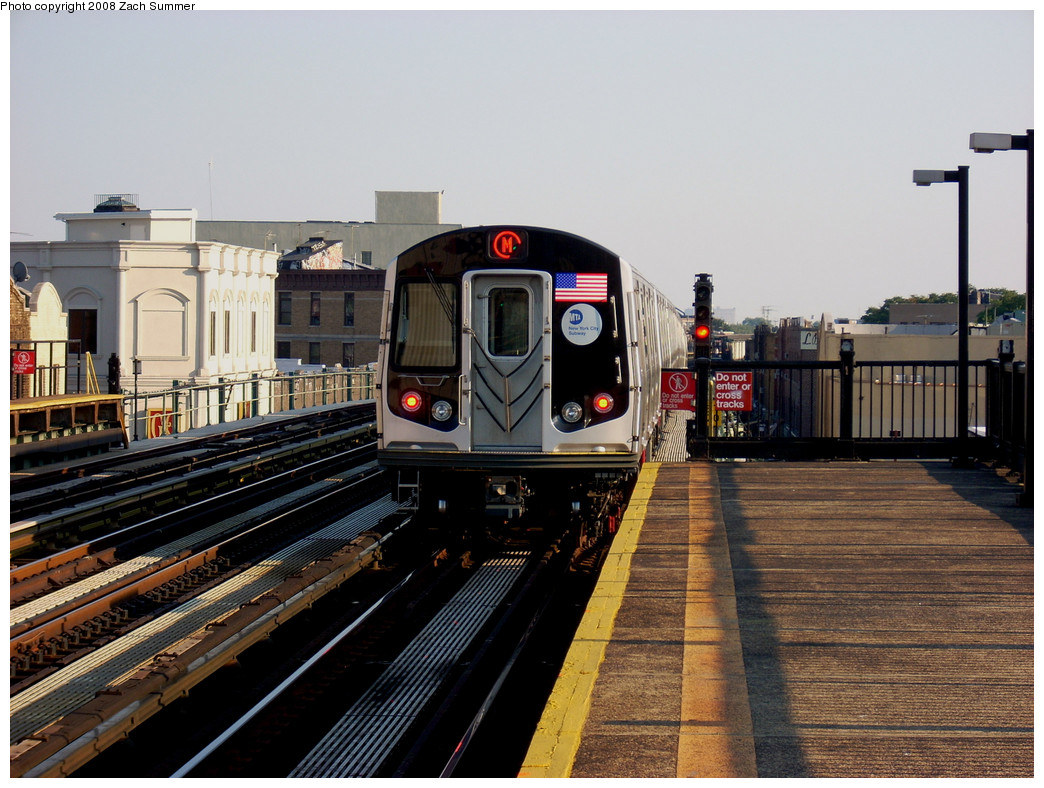 (280k, 1044x788)<br><b>Country:</b> United States<br><b>City:</b> New York<br><b>System:</b> New York City Transit<br><b>Line:</b> BMT West End Line<br><b>Location:</b> 50th Street <br><b>Route:</b> M<br><b>Car:</b> R-160A-1 (Alstom, 2005-2008, 4 car sets)   <br><b>Photo by:</b> Zach Summer<br><b>Date:</b> 7/16/2008<br><b>Viewed (this week/total):</b> 0 / 1693
