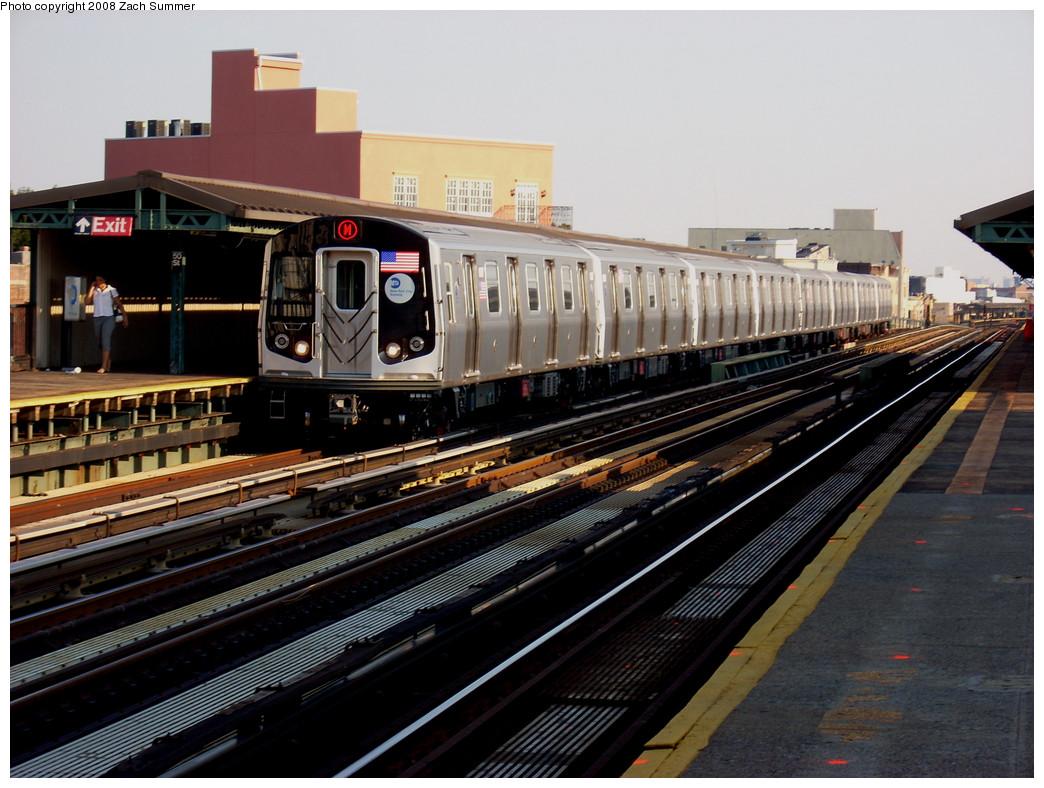 (270k, 1044x788)<br><b>Country:</b> United States<br><b>City:</b> New York<br><b>System:</b> New York City Transit<br><b>Line:</b> BMT West End Line<br><b>Location:</b> 50th Street <br><b>Route:</b> M<br><b>Car:</b> R-160A-1 (Alstom, 2005-2008, 4 car sets)  8517 <br><b>Photo by:</b> Zach Summer<br><b>Date:</b> 7/16/2008<br><b>Viewed (this week/total):</b> 0 / 1687