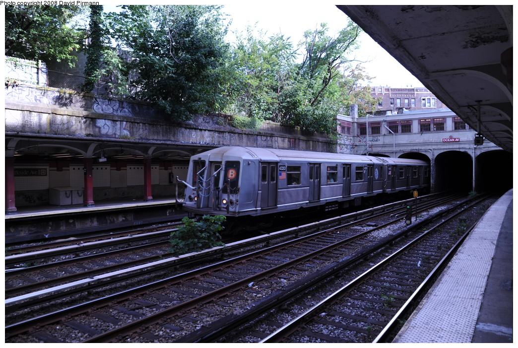 (350k, 1044x701)<br><b>Country:</b> United States<br><b>City:</b> New York<br><b>System:</b> New York City Transit<br><b>Line:</b> BMT Brighton Line<br><b>Location:</b> Parkside Avenue <br><b>Route:</b> B<br><b>Car:</b> R-40 (St. Louis, 1968)  4300 <br><b>Photo by:</b> David Pirmann<br><b>Date:</b> 8/27/2008<br><b>Viewed (this week/total):</b> 2 / 1754