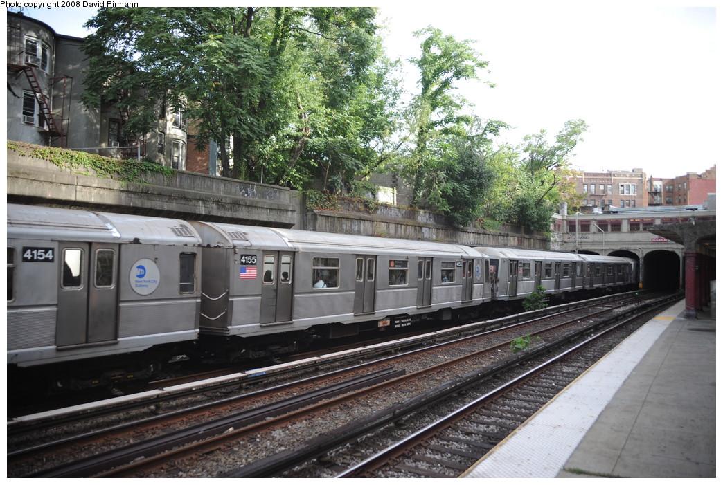 (306k, 1044x701)<br><b>Country:</b> United States<br><b>City:</b> New York<br><b>System:</b> New York City Transit<br><b>Line:</b> BMT Brighton Line<br><b>Location:</b> Parkside Avenue <br><b>Route:</b> B<br><b>Car:</b> R-40 (St. Louis, 1968)  4155 <br><b>Photo by:</b> David Pirmann<br><b>Date:</b> 8/27/2008<br><b>Viewed (this week/total):</b> 0 / 1590