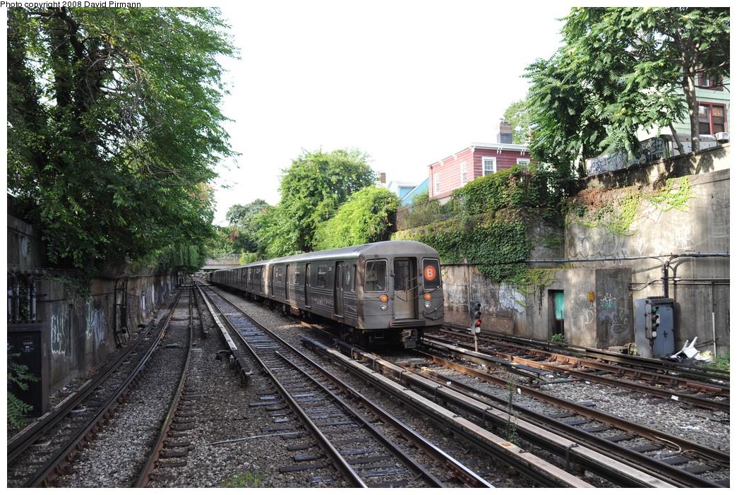 (378k, 1044x701)<br><b>Country:</b> United States<br><b>City:</b> New York<br><b>System:</b> New York City Transit<br><b>Line:</b> BMT Brighton Line<br><b>Location:</b> Newkirk Plaza (fmrly Newkirk Ave.) <br><b>Route:</b> B<br><b>Car:</b> R-68 (Westinghouse-Amrail, 1986-1988)  2866 <br><b>Photo by:</b> David Pirmann<br><b>Date:</b> 8/27/2008<br><b>Viewed (this week/total):</b> 2 / 1577