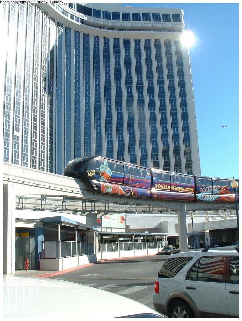(266k, 788x1044)<br><b>Country:</b> United States<br><b>City:</b> Las Vegas, NV<br><b>System:</b> Las Vegas Monorail<br><b>Location:</b> Las Vegas Hilton <br><b>Photo by:</b> Brian J. Cudahy<br><b>Date:</b> 12/10/2007<br><b>Viewed (this week/total):</b> 0 / 1332
