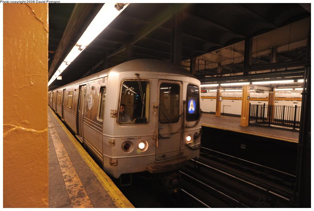 (234k, 1044x701)<br><b>Country:</b> United States<br><b>City:</b> New York<br><b>System:</b> New York City Transit<br><b>Line:</b> IND 8th Avenue Line<br><b>Location:</b> 145th Street <br><b>Route:</b> A<br><b>Car:</b> R-44 (St. Louis, 1971-73) 5390 <br><b>Photo by:</b> David Pirmann<br><b>Date:</b> 8/27/2008<br><b>Viewed (this week/total):</b> 1 / 1941