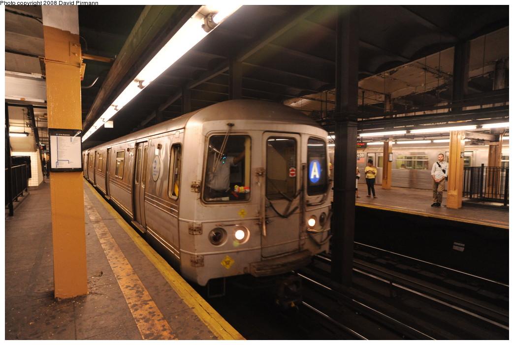 (246k, 1044x701)<br><b>Country:</b> United States<br><b>City:</b> New York<br><b>System:</b> New York City Transit<br><b>Line:</b> IND 8th Avenue Line<br><b>Location:</b> 145th Street <br><b>Route:</b> A<br><b>Car:</b> R-44 (St. Louis, 1971-73) 5348 <br><b>Photo by:</b> David Pirmann<br><b>Date:</b> 8/27/2008<br><b>Viewed (this week/total):</b> 1 / 1788
