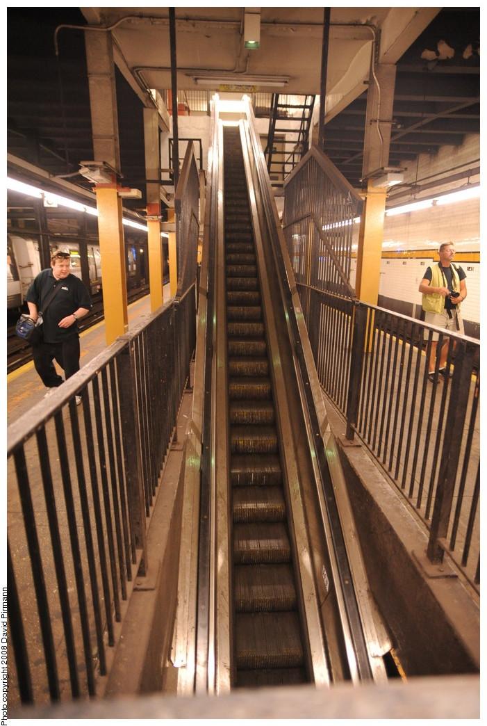 (280k, 701x1044)<br><b>Country:</b> United States<br><b>City:</b> New York<br><b>System:</b> New York City Transit<br><b>Line:</b> IND 8th Avenue Line<br><b>Location:</b> 145th Street <br><b>Photo by:</b> David Pirmann<br><b>Date:</b> 8/27/2008<br><b>Notes:</b> Escalator.<br><b>Viewed (this week/total):</b> 0 / 2354
