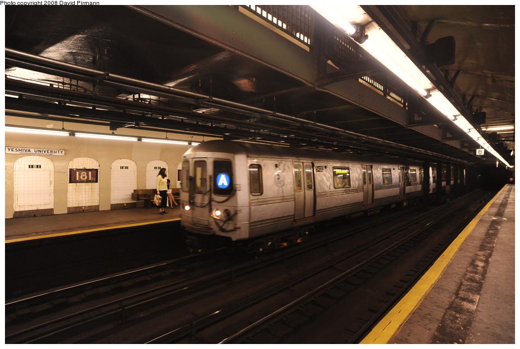(247k, 1044x701)<br><b>Country:</b> United States<br><b>City:</b> New York<br><b>System:</b> New York City Transit<br><b>Line:</b> IND 8th Avenue Line<br><b>Location:</b> 181st Street <br><b>Route:</b> A<br><b>Car:</b> R-44 (St. Louis, 1971-73) 5420 <br><b>Photo by:</b> David Pirmann<br><b>Date:</b> 8/27/2008<br><b>Viewed (this week/total):</b> 2 / 1798