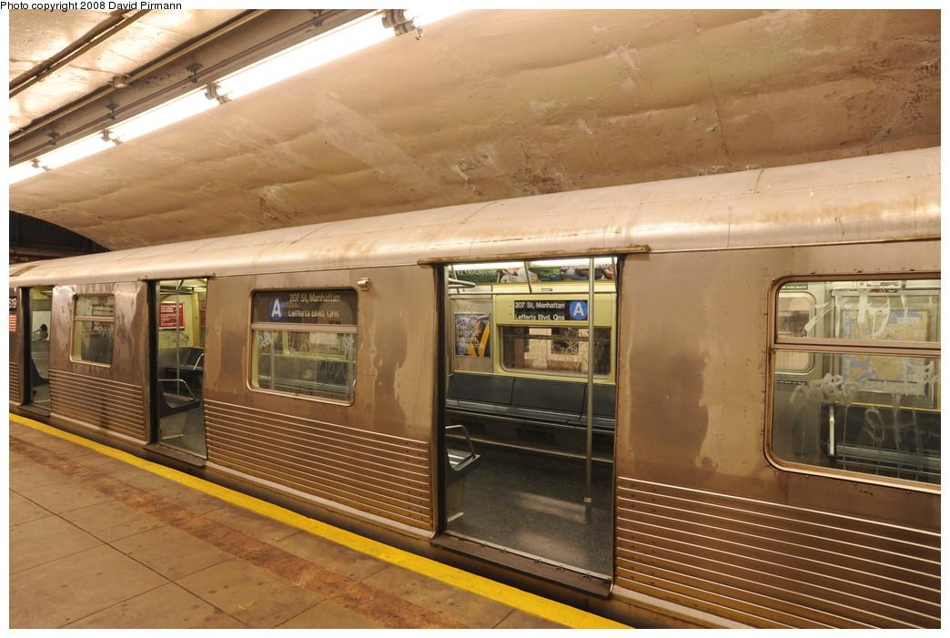 (267k, 1044x701)<br><b>Country:</b> United States<br><b>City:</b> New York<br><b>System:</b> New York City Transit<br><b>Line:</b> IND 8th Avenue Line<br><b>Location:</b> 190th Street/Overlook Terrace <br><b>Route:</b> A<br><b>Car:</b> R-42 (St. Louis, 1969-1970)  4619 <br><b>Photo by:</b> David Pirmann<br><b>Date:</b> 8/27/2008<br><b>Viewed (this week/total):</b> 0 / 1633
