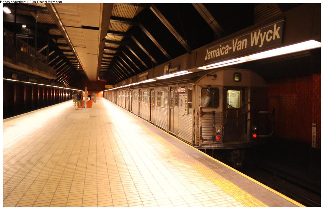 (229k, 1044x677)<br><b>Country:</b> United States<br><b>City:</b> New York<br><b>System:</b> New York City Transit<br><b>Line:</b> IND Queens Boulevard Line<br><b>Location:</b> Jamaica/Van Wyck <br><b>Route:</b> E<br><b>Car:</b> R-32 (Budd, 1964)  3376 <br><b>Photo by:</b> David Pirmann<br><b>Date:</b> 8/27/2008<br><b>Viewed (this week/total):</b> 3 / 2039