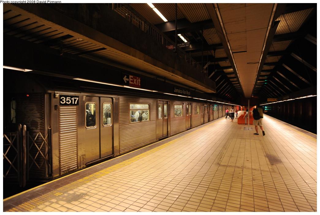 (272k, 1044x701)<br><b>Country:</b> United States<br><b>City:</b> New York<br><b>System:</b> New York City Transit<br><b>Line:</b> IND Queens Boulevard Line<br><b>Location:</b> Jamaica/Van Wyck <br><b>Route:</b> E<br><b>Car:</b> R-32 (Budd, 1964)  3517 <br><b>Photo by:</b> David Pirmann<br><b>Date:</b> 8/27/2008<br><b>Viewed (this week/total):</b> 4 / 1626