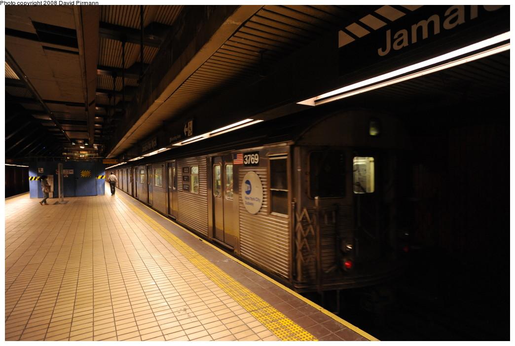 (238k, 1044x701)<br><b>Country:</b> United States<br><b>City:</b> New York<br><b>System:</b> New York City Transit<br><b>Line:</b> IND Queens Boulevard Line<br><b>Location:</b> Jamaica/Van Wyck <br><b>Route:</b> E<br><b>Car:</b> R-32 (Budd, 1964)  3769 <br><b>Photo by:</b> David Pirmann<br><b>Date:</b> 8/27/2008<br><b>Viewed (this week/total):</b> 0 / 1334