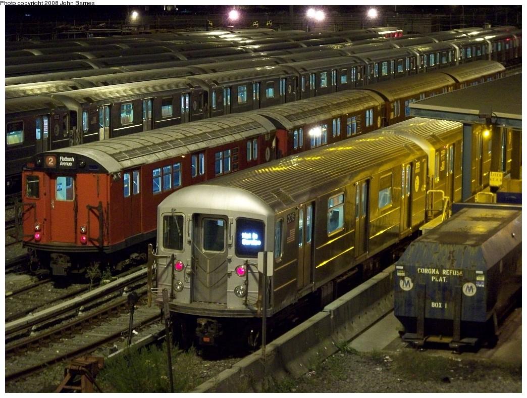 (273k, 1044x788)<br><b>Country:</b> United States<br><b>City:</b> New York<br><b>System:</b> New York City Transit<br><b>Location:</b> Corona Yard<br><b>Car:</b> R-62A (Bombardier, 1984-1987)  2015 <br><b>Photo by:</b> John Barnes<br><b>Date:</b> 8/27/2008<br><b>Notes:</b> With R29 8678.<br><b>Viewed (this week/total):</b> 0 / 1768