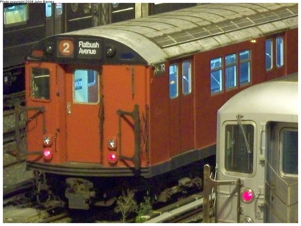 (208k, 1044x785)<br><b>Country:</b> United States<br><b>City:</b> New York<br><b>System:</b> New York City Transit<br><b>Location:</b> Corona Yard<br><b>Car:</b> R-29 (St. Louis, 1962) 8678 <br><b>Photo by:</b> John Barnes<br><b>Date:</b> 8/27/2008<br><b>Viewed (this week/total):</b> 2 / 1962
