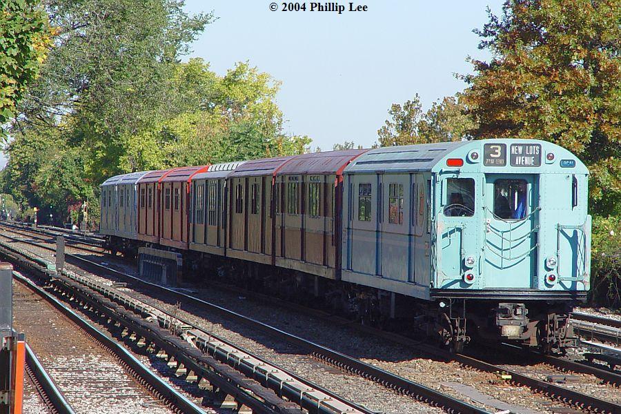 (173k, 900x600)<br><b>Country:</b> United States<br><b>City:</b> New York<br><b>System:</b> New York City Transit<br><b>Line:</b> BMT Brighton Line<br><b>Location:</b> Avenue U <br><b>Route:</b> Fan Trip<br><b>Car:</b> R-33 World's Fair (St. Louis, 1963-64) 9306 <br><b>Photo by:</b> Phillip Lee<br><b>Date:</b> 10/23/2004<br><b>Viewed (this week/total):</b> 1 / 1201