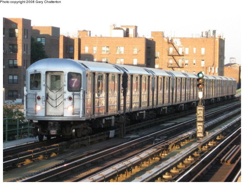 (158k, 820x620)<br><b>Country:</b> United States<br><b>City:</b> New York<br><b>System:</b> New York City Transit<br><b>Line:</b> IRT Flushing Line<br><b>Location:</b> 82nd Street/Jackson Heights <br><b>Route:</b> 7<br><b>Car:</b> R-62A (Bombardier, 1984-1987)  1651 <br><b>Photo by:</b> Gary Chatterton<br><b>Date:</b> 8/31/2008<br><b>Viewed (this week/total):</b> 7 / 1533