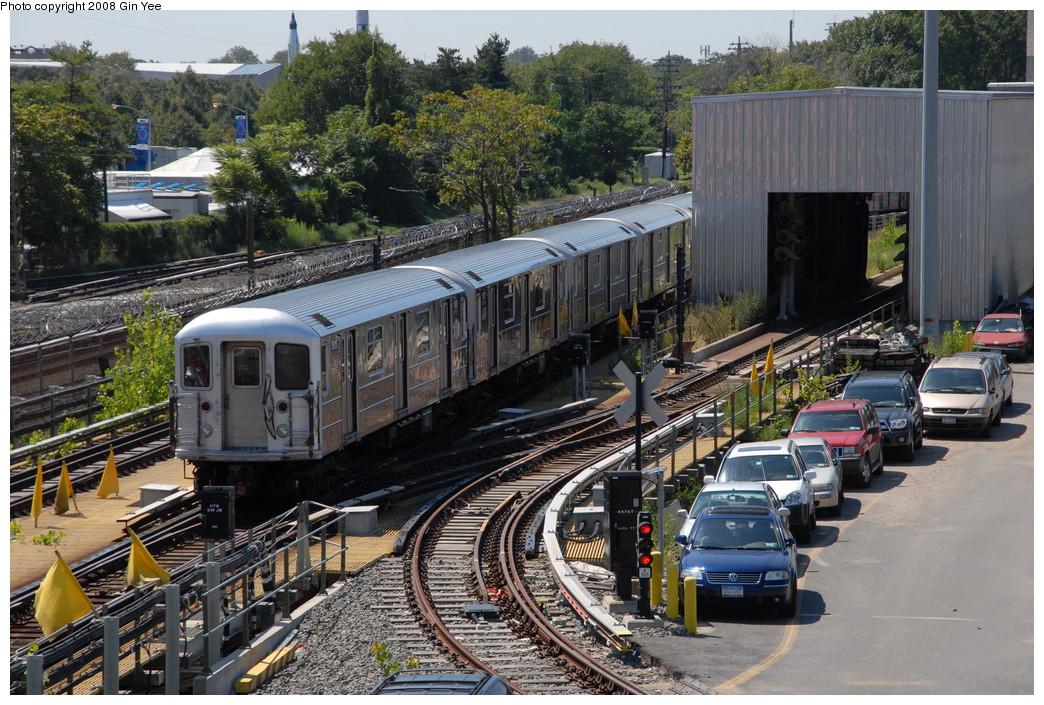 (313k, 1044x705)<br><b>Country:</b> United States<br><b>City:</b> New York<br><b>System:</b> New York City Transit<br><b>Location:</b> Corona Yard<br><b>Car:</b> R-62A (Bombardier, 1984-1987)  1806 <br><b>Photo by:</b> Gin Yee<br><b>Date:</b> 9/2/2008<br><b>Viewed (this week/total):</b> 0 / 1786