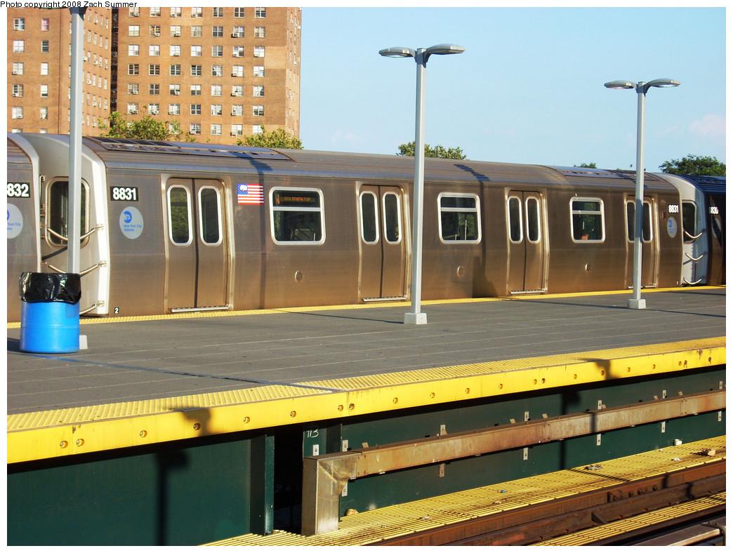 (300k, 1044x788)<br><b>Country:</b> United States<br><b>City:</b> New York<br><b>System:</b> New York City Transit<br><b>Location:</b> Coney Island/Stillwell Avenue<br><b>Route:</b> N<br><b>Car:</b> R-160B (Kawasaki, 2005-2008)  8831 <br><b>Photo by:</b> Zach Summer<br><b>Date:</b> 8/1/2008<br><b>Viewed (this week/total):</b> 0 / 1542