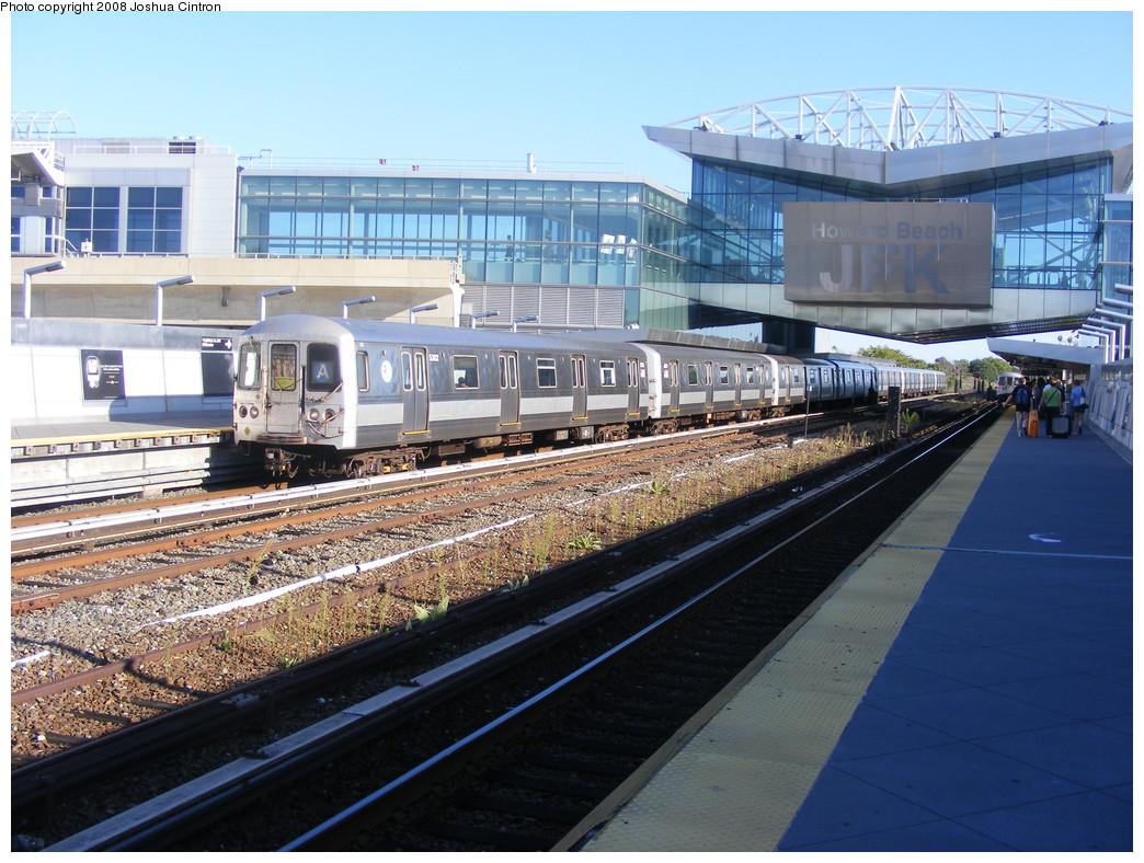 (262k, 1044x788)<br><b>Country:</b> United States<br><b>City:</b> New York<br><b>System:</b> New York City Transit<br><b>Line:</b> IND Rockaway<br><b>Location:</b> Howard Beach <br><b>Route:</b> A<br><b>Car:</b> R-44 (St. Louis, 1971-73) 5302 <br><b>Photo by:</b> Joshua Cintron<br><b>Date:</b> 9/7/2008<br><b>Viewed (this week/total):</b> 3 / 1750