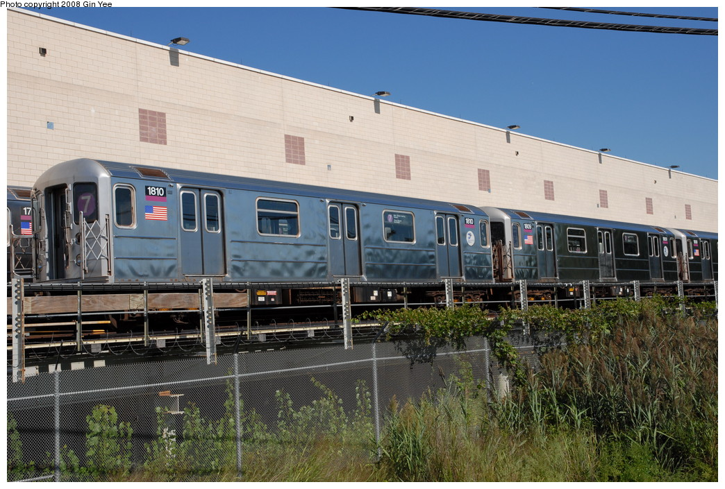 (286k, 1044x705)<br><b>Country:</b> United States<br><b>City:</b> New York<br><b>System:</b> New York City Transit<br><b>Location:</b> Corona Yard<br><b>Car:</b> R-62A (Bombardier, 1984-1987)  1810 <br><b>Photo by:</b> Gin Yee<br><b>Date:</b> 9/8/2008<br><b>Viewed (this week/total):</b> 0 / 1463
